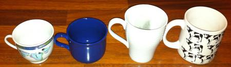 Tassen in verscchiedenen Größen